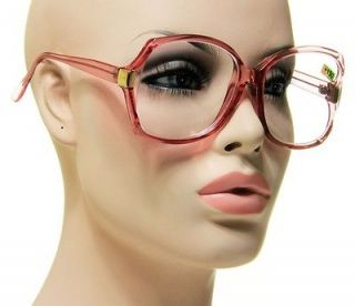 Newly listed New Retro Optical Reading Glasses Transparent Pink With