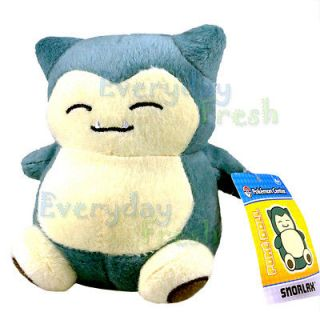 Snorlax Kabigon 6 Pokedoll Soft Plush Figure Doll Nintendo Toy B&W