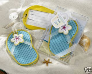 24 Flip Flop Luggage Tag Gifts Beach Party Favors Wedding Favors