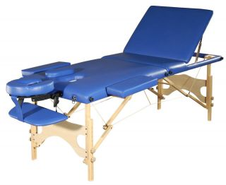 New Portable Massage Table + Blue + Tattoo + Spa + Adjustable Frame