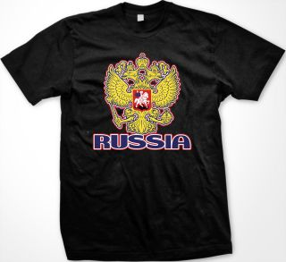 Russian Coat Of Arms Mens T shirt Russia Flag Olympic Games Federation