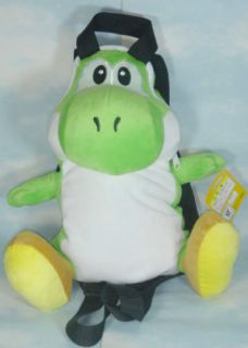 super mario bros yoshi 14 soft plush doll bag backpack