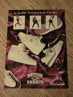 KNIGHTS BK SHOE ADVERTISEMENT FOOT LOCKER AD NEW YORK LONDON LADY