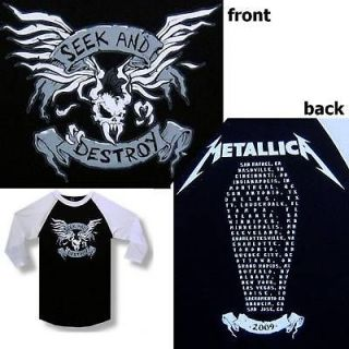 METALLICA SEEK & DESTROY 2009 TOUR JERSEY SHIRT S NEW