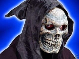 GRIM REAPER FOAM LATEX SKULL MASK  MOVES WITH YOUR FACE