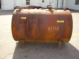 500 GAL. ALL STEEL TANK IT HAS BEEN USED FOR WATER STORAGE TANK