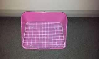 Large Rectangle Litter tray guinea pig/ rabbit/ ferret + Grid (no more