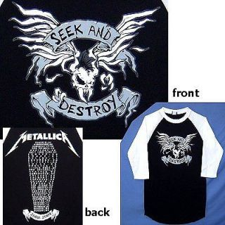 METALLICA SEEK & DESTROY TOUR 2008 09 JERSEY SHIRT MED