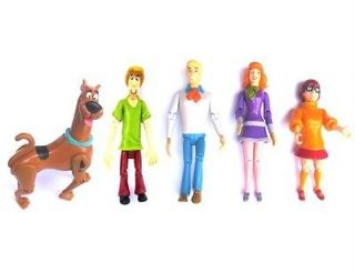 LOT 5 Pcs Scooby Doo SHAGGY DAPHNE FRED VELMA DOG Action Figure Super