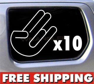 10) 5 Shocker Sticker JDM Honda Import Tuner Decal