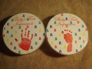 Sweet baby keepsake handprint & footprint kits   new   both kits
