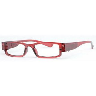 LED Illuminating Lighted Reading Glasses +1.00 Battery Operated Brown