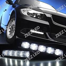 High Power Ultra Bright White LED Daytime Running Light Kit Day DRL