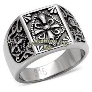 Steel Mens Great Mason Templar Knights Ring SIZE 8,9,10,11,12,13