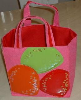 BATH & BODY WORKS PINK FELT PARTY GIFT BAG QUILTED PVC BALLOONS