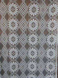 French Vintage Lace curtain drape window treatment net panel