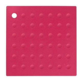 SILICONE PINK TRIVET HOT POT STAND HOLDER RACK PAN FRY