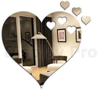HEART SHAPE MIRRORS & SMALL HEARTS FROM £4.99   ACRYLIC WALL HOME