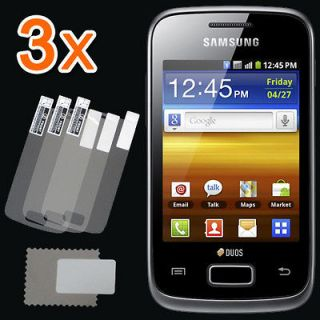 3x CLEAR Screen Protector Film for Samsung Galaxy Y Duos s6102