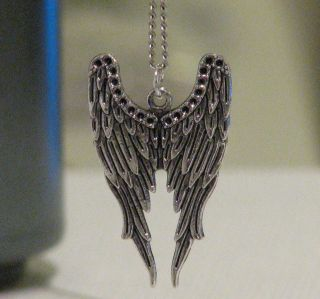 Inspired Castiel Archangel Angel Wing Charm Pendant Necklace