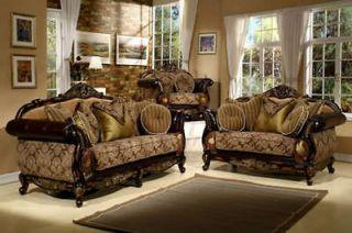 Formal luxury sofa love seat living room furniture set hd 275 for Formal living room sets for sale