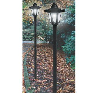 NEW 2 PACK COACH STYLE SOLAR LIGHT LAMP POSTS