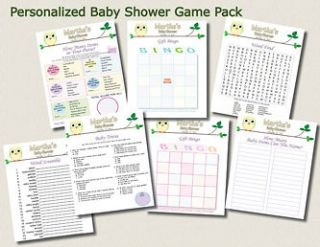 POPULAR BABY SHOWER GAMES OWL THEME HOOTERS GIRL BOY NEUTRAL LEAVES