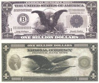 Billion Dollar Bills   3 Pack   Fake Play Novelty Money