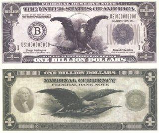 Billion Dollar Bills   3 Pack   Fake Play Novelty Money