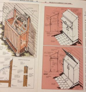 1984 PLANS~LITTLE SHEDS~TOOL STORAGE~TRASH CAN HIDEAWAY~GARDEN SUPPLY