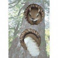 Outdoor Squirrel Tree, House or Garage Decoration  2 pc Squirrel Tree