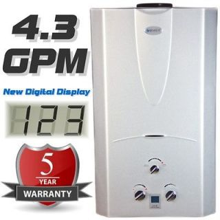 Tankless Hot Water Heater 4.3 GPM Natural Gas with Digital Temperature