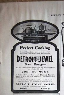1902 Detroit Jewel Gas Range Stove Ad