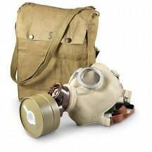 NEW CZECH MODEL Z GAS MASK WITH 40MM FILTER AND ORIGINAL CARRY BAG