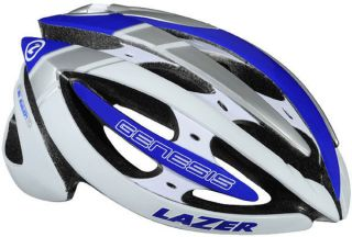 Lazer Genesis White Blue L/XL 58   61 Helmet Bike Bicycle Road