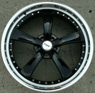 TSW STRIP 22 BLACK RIMS WHEELS CHRYSLER 300 300C AWD / 22 X 9.0 5H