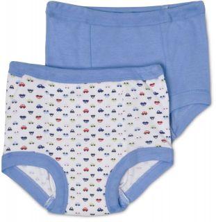 Packs (6 Pairs) Gerber Boys Blue Cotton Potty Training Pants   All