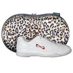 NFINITY PANTHER CHEERLEADING SHOES SIZE 12 GIRLS W/CASE NEW
