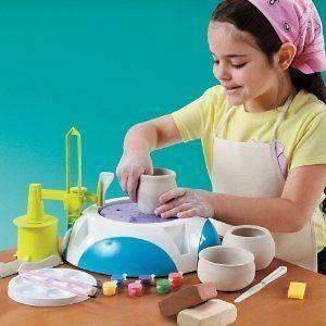 Boy Girls Discovery Kids Pottery Wheel Arts & Craft Ceramic Toy New