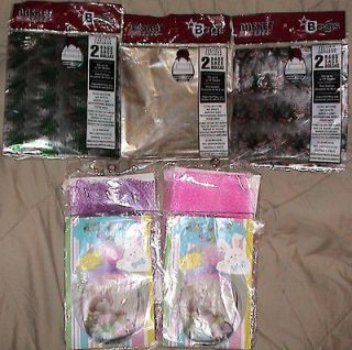 GIFT BASKET BAGS PLASTIC/TREES*SNOWFLAKES*CANDY CANES or MESH