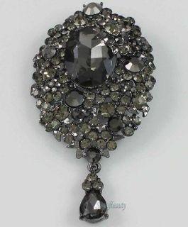 Glass Rhinestone Crystal Diamante Lady Brooch Pin Charm Pendant Color