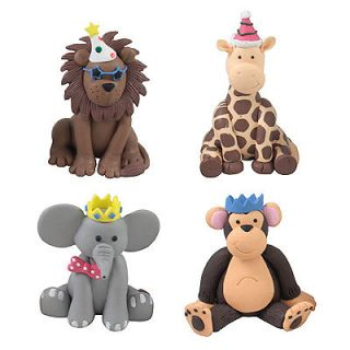 Claydough Party Jungle Animals Monkey Lion Giraffe Elephant cake