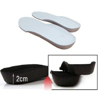 White For Man Lift Taller Shoe Pads Height Increase Shoe Insoles i ep