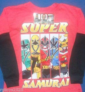 Power Rangers Samurai Long Sleeve T Shirt Sz 10 12 M Child New Zapper