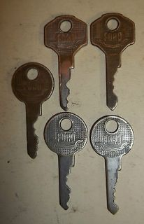 VINTAGE FORD CAR TRUCK KEYS IGNITION AUTOMOBILE BRASS OLD COLLECTION