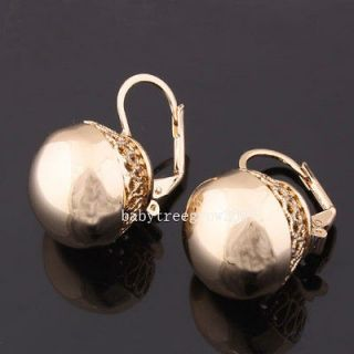rose gold ball stud earrings in Fashion Jewelry