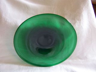 vintage green glass bowl in 40s, 50s, 60s
