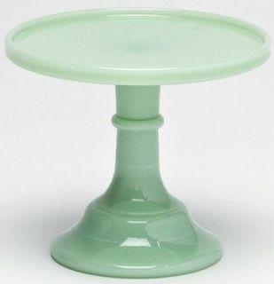 LARGE 9 JADEITE JADITE Green Glass PEDESTAL CAKE PLATE