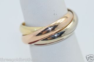 Cartier Trinity Ring Large 750 18K Tri Color Gold