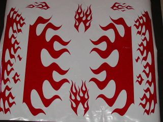 GOLF Cart Kart Flames Flame Graphics Decal Decals Bag